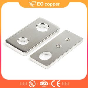 1 Rounded Hole And 1 Oval-shaped Hole Copper Tinned Busbars