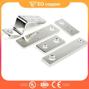 Hard Copper Solid Screw Nickle Plated Flat Electrical Busbar Connector